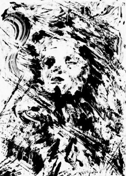 """Reverie."" Monotype. 7x5 inches. 2008."