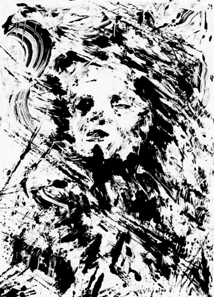"""""""Reverie."""" Monotype. 7x5 inches. 2008."""