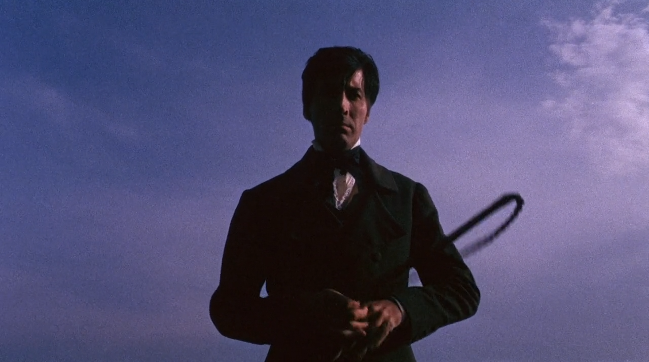 Whip-wielding Christopher Lee in The Whip and the Body