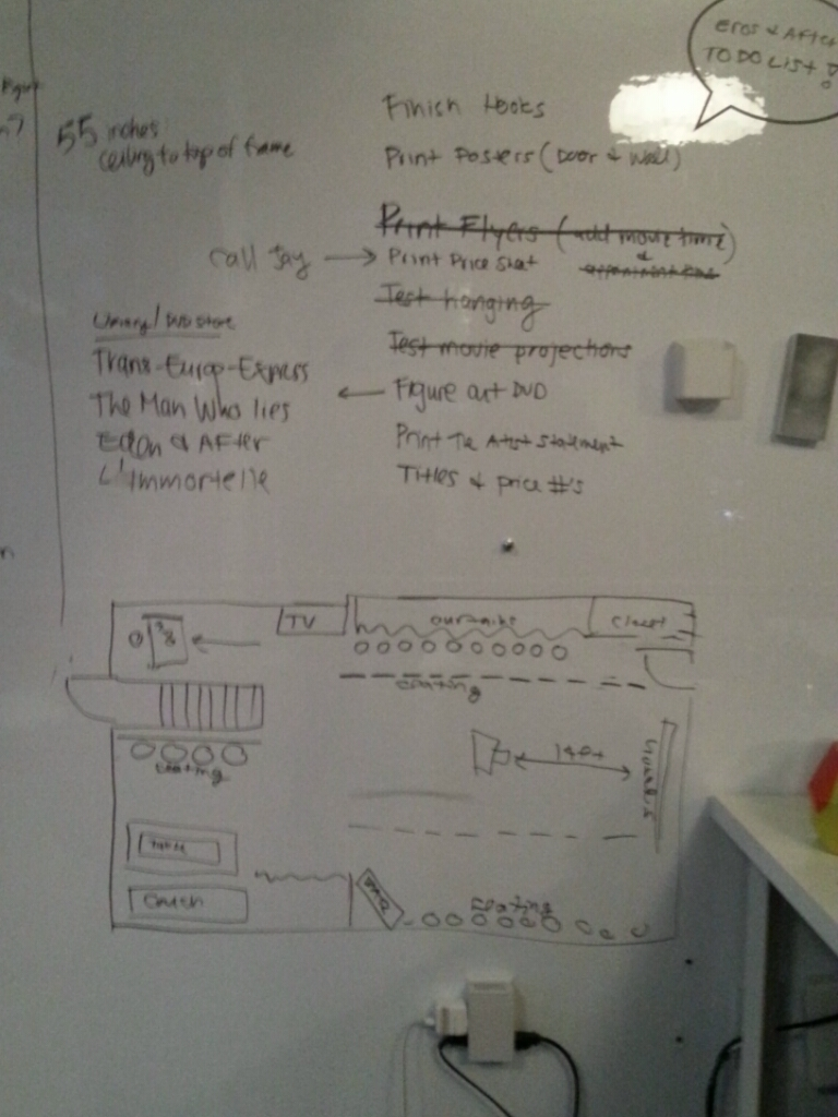 Logistics... and to-do lists.
